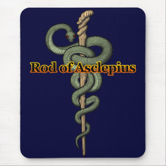 Rod of Asclepius Mouse Pads