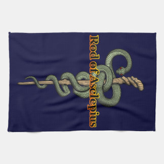 Rod of Asclepius Kitchen Towel