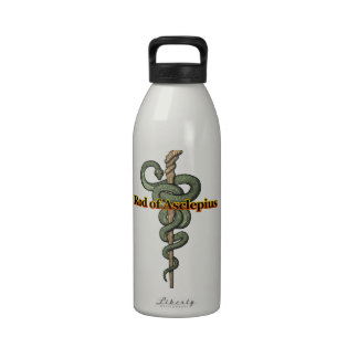 Rod of Asclepius Water Bottles