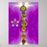 ROD OF ASCLEPIUS WITH 7 CHAKRAS ,SPIRITUAL ENERGY