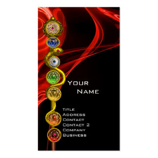 ROD OF ASCLEPIUS WITH 7 CHAKRAS ,SPIRITUAL ENERGY BUSINESS CARD TEMPLATE