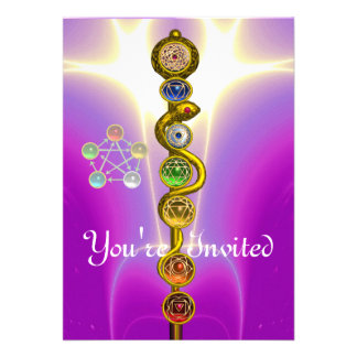 ROD OF ASCLEPIUS WITH 7 CHAKRAS SPIRITUAL ENERGY ANNOUNCEMENT