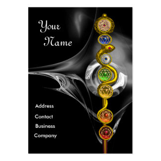 ROD OF ASCLEPIUS WITH 7 CHAKRAS ,SPIRITUAL ENERGY PACK OF CHUBBY BUSINESS CARDS