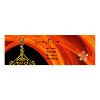 ROD OF ASCLEPIUS WITH 7 CHAKRAS ,SPIRITUAL ENERGY PACK OF SKINNY BUSINESS CARDS