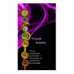 ROD OF ASCLEPIUS WITH 7 CHAKRAS ,SPIRITUAL ENERGY PACK OF STANDARD BUSINESS CARDS
