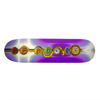 ROD OF ASCLEPIUS WITH 7 CHAKRAS SPIRITUAL ENERGY SKATE BOARD