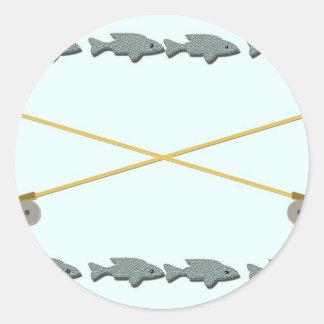 Rod Reel Fish Stickers