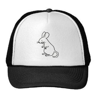 Rodent rat mouse ink line drawing art design logo trucker hat
