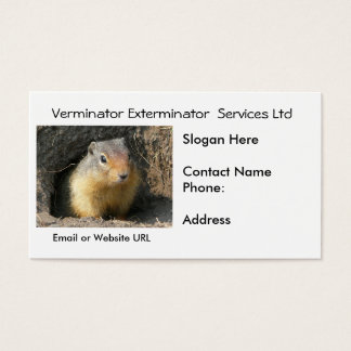 Rodent Vermin Business Card