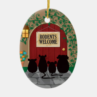 Rodents Welcome Christmas Ornament