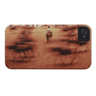 Rodeo arena,blurred motion,Texas, USA iPhone 4 Covers