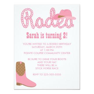 Rodeo Birthday 11 Cm X 14 Cm Invitation Card