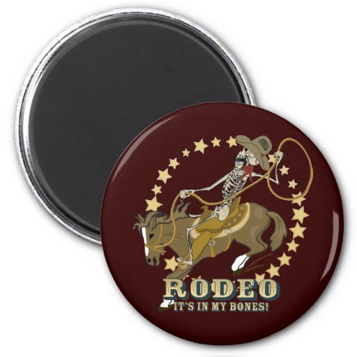 Rodeo Bones Refrigerator Magnet