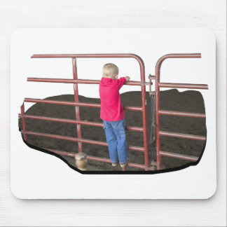 Rodeo - Boy on fence Mouse Pad