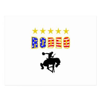 RODEO BRONC RIDER POST CARD