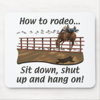 Rodeo - Broncs - How to Rodeo Mouse Pad