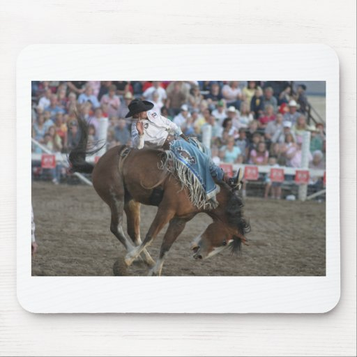 Rodeo Bucking Bronco Mouse Pads