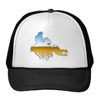 Rodeo - Bull Dogging; steer wrestling Mesh Hat