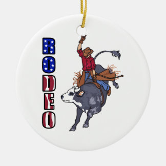 RODEO BULL RIDER CHRISTMAS ORNAMENT