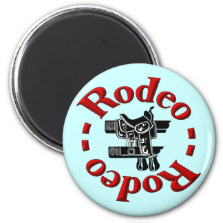 rodeo button 6 cm round magnet