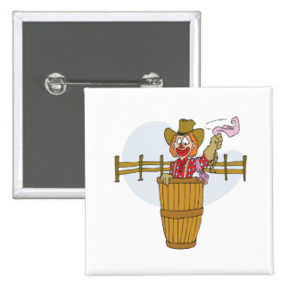 Rodeo Clown 15 Cm Square Badge