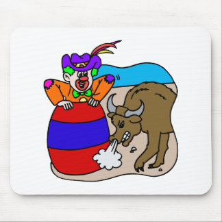 Rodeo Clown in Barrel Mouse Pad