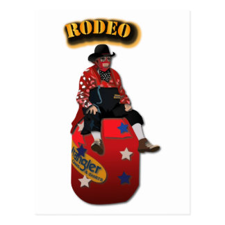 Rodeo Clowns with Text Postcard