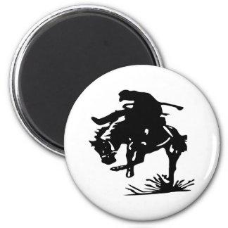 Rodeo Cowboy 6 Cm Round Magnet