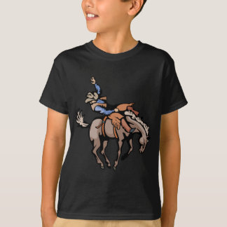 rodeo cowboy and bucking horse T-Shirt