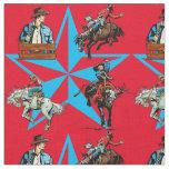 Rodeo Cowboy Bronc Riding Western Fabric