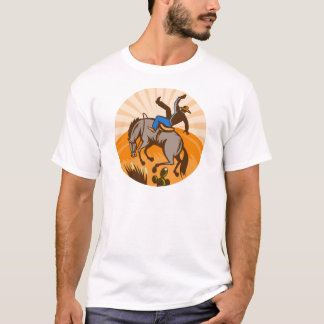 rodeo cowboy bucking bronco T-Shirt