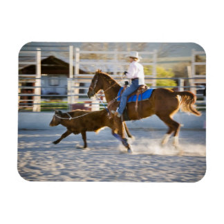 Rodeo cowboy calf roping flexible magnets