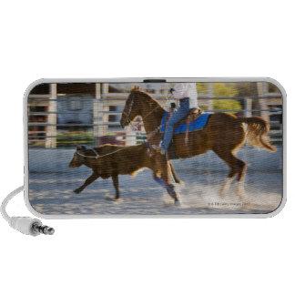 Rodeo cowboy calf roping mp3 speaker