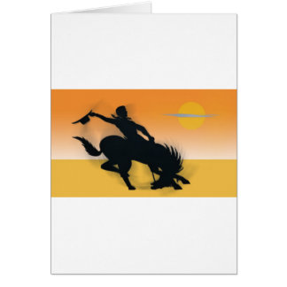 Rodeo Cowboy Card