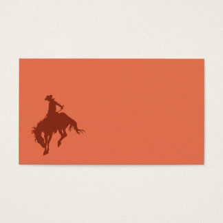 Rodeo Cowboy in Sienna Business Card