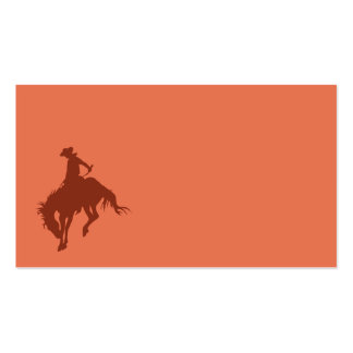 Rodeo Cowboy in Sienna Pack Of Standard Business Cards