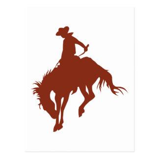 Rodeo Cowboy in Sienna Postcard