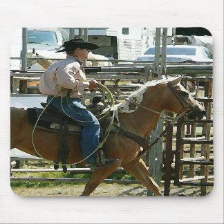 Rodeo Cowboy on Horseback Mousepad