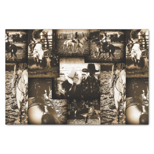 Rodeo Cowboy Rustic Country Western Tissue Paper