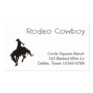 Rodeo Cowboy Silhouette Pack Of Standard Business Cards