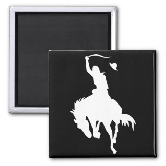 Rodeo Cowboy Square Magnet