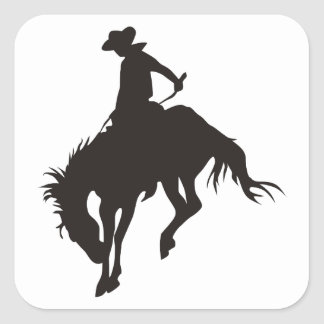 Rodeo Cowboy Square Sticker