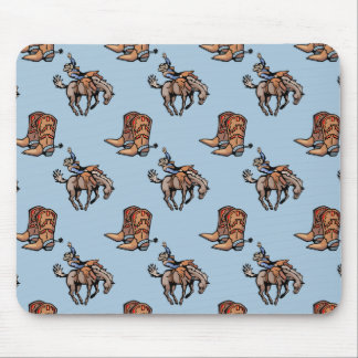 Rodeo Cowboy, Western Boots, Horse, Country Mouse Pad