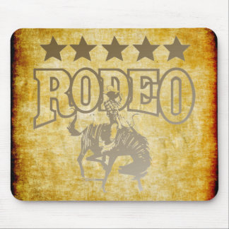 Rodeo Cowboy With Stars Mouse Pad
