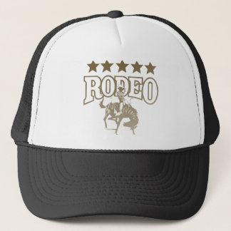 Rodeo Cowboy With Stars Trucker Hat