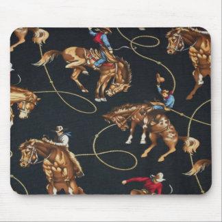 Rodeo Cowboys Bronc Ridin' Horses Mousepad