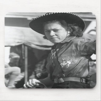 Rodeo Cowgirl: 1940 Mousepads