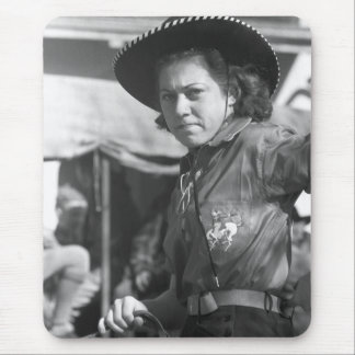 Rodeo Cowgirl: 1940 Mouse Pad