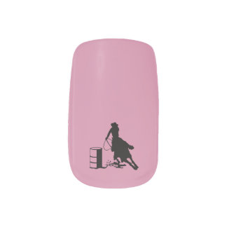 Rodeo Cowgirl Barrel Racer Horse Style Minx Nail Art