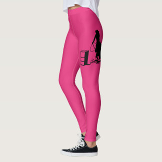 Rodeo Cowgirl Barrel Racing Horse Silhouette Leggings